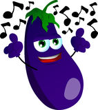 Singing eggplant Royalty Free Stock Images