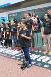 Singing event for memorizing China Tiananmen Square protests of 1989 Stock Image