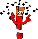 Singing exclamation mark Stock Image