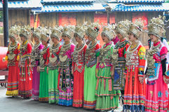 Singing female folk singers Royalty Free Stock Images