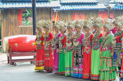 Singing female folk singers Stock Photos