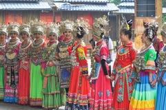 Singing female folk singers Stock Image