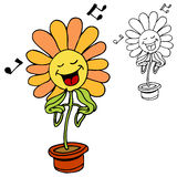 Singing Flower Royalty Free Stock Images