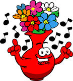 Singing flower vase Royalty Free Stock Photos