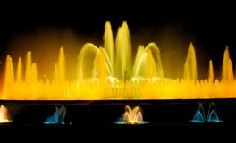The singing fountain in Barcelona Stock Image