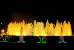 The singing fountain in Barcelona Stock Photo