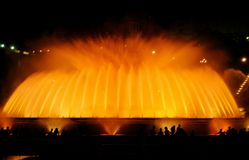 The singing fountain in Barcelona Royalty Free Stock Photography