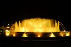 The singing fountain in Barcelona Royalty Free Stock Photo