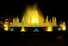 The singing fountain in Barcelona Royalty Free Stock Photos