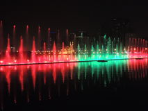 Singing fountain night city showing Stock Photo
