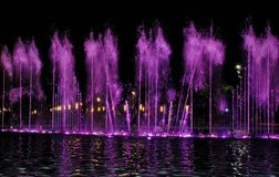 Singing fountain in Salou Spain Stock Photography