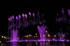 Singing fountain in Salou Spain Stock Photos