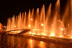 The singing fountain Stock Photography