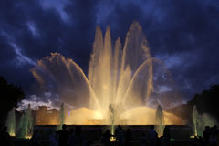 Singing fountains Royalty Free Stock Photography