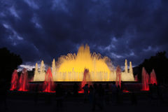 Singing fountains Royalty Free Stock Photos