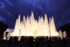 Singing fountains Royalty Free Stock Image