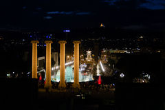Singing fountains. Barcelona Royalty Free Stock Images