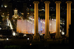 Singing fountains. Barcelona Stock Photos