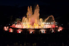 Singing fountains Barcelona Stock Image