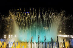 Singing fountains Barcelona Stock Photos