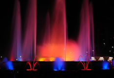 Singing fountains. Stock Images