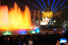 Singing fountains. Royalty Free Stock Photography