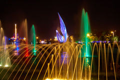Singing fountains in the Olympic Park Royalty Free Stock Photo