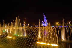 Singing fountains in the Olympic Park Royalty Free Stock Image