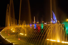 Singing fountains in the Olympic Park Stock Photography