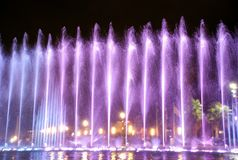 Singing fountains Stock Images