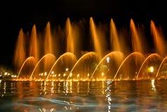 Singing fountains Stock Photos