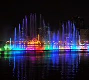 Singing fountains in Sharjah, UAE Stock Photography