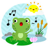 Singing Frog Royalty Free Stock Photo