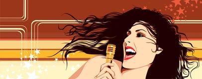 Singing Girl Royalty Free Stock Photos