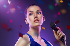 Singing girl Royalty Free Stock Photography