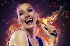 Singing girl Royalty Free Stock Image