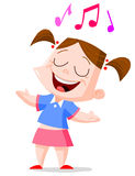 Singing girl. Illustration of a young girl singing Stock Photography