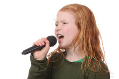 Singing girl royalty free stock photo
