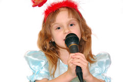 Singing girl Stock Photos