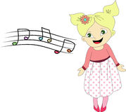 Singing girl Stock Images