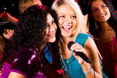 Singing girls Royalty Free Stock Images