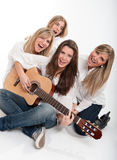 Singing girls Royalty Free Stock Photos