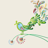Singing green nightingale Royalty Free Stock Photo