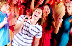 Singing guy Stock Photography
