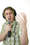Singing from the heart Stock Image
