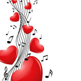 Singing heart Royalty Free Stock Photos