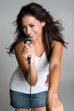 Singing Hispanic Woman Royalty Free Stock Image