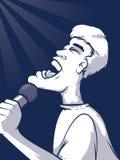 Singing Illustration Royalty Free Stock Photos