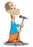 Singing. Illustration of a person is performing singing Royalty Free Stock Images