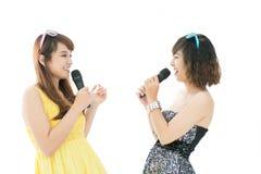 Singing in karaoke Royalty Free Stock Photos